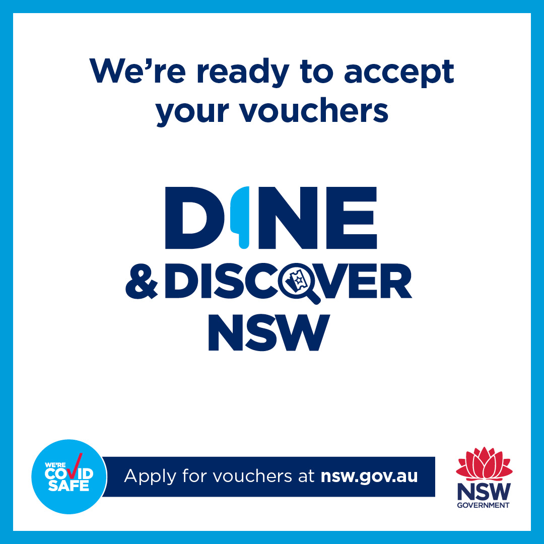 Dine and Discover NSW Sticker